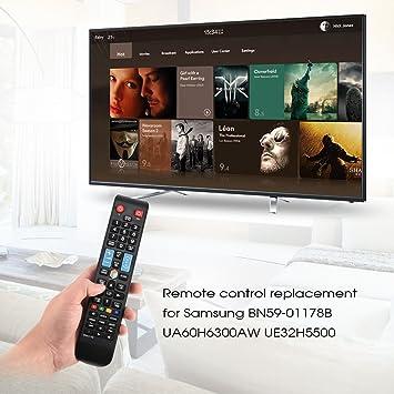 Zerone Mando a Distancia para TV para Samsung BN59-01178B, Mando a Distancia Universal para TV Samsung BN59-01178B UA60H6300AW UE32H5500: Amazon.es: Electrónica