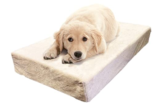 Milliard Premium Orthopedic Memory Foam Dog Bed with Anti-Microbial Waterproof Non-slip Cover, Small 24x18x4 in