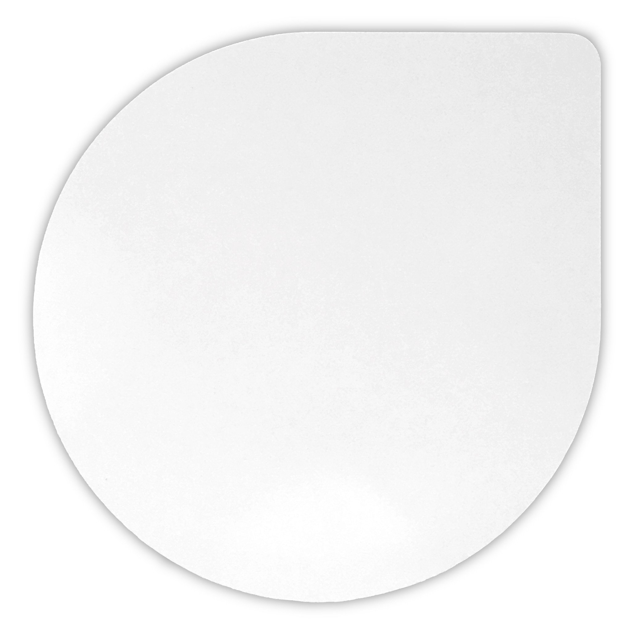 Made in USA Non-Skid Single Pet Bowl Mat in White Food Grade Silicone Rubber Large Size 2 Pack