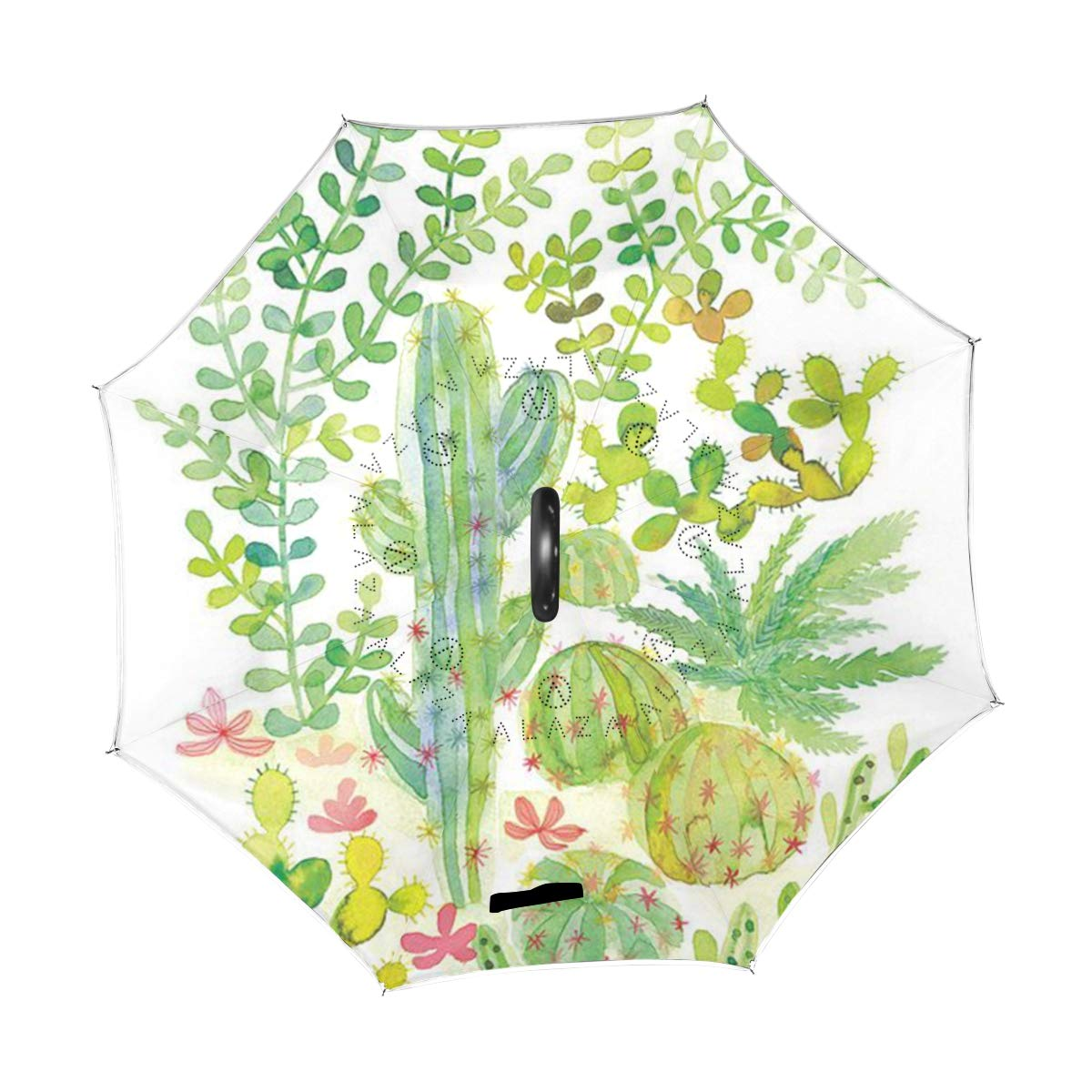 494580c59710 Amazon.com : Ladninag Reverse Umbrella Multicolor Green Cacti ...
