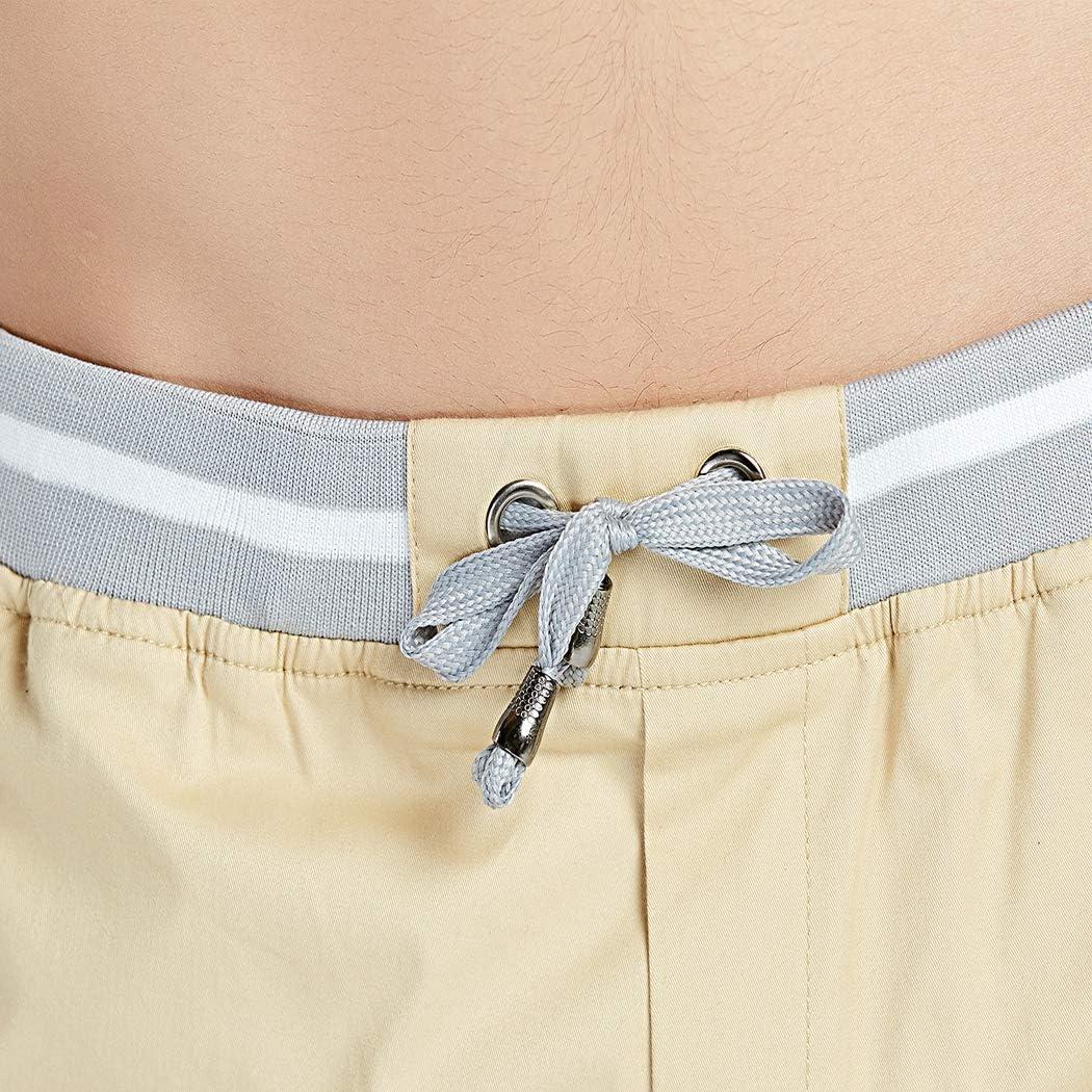 STICKON Mens Casual Shorts Slim Fit Drawstring Summer Beach Shorts with Elastic Waist and Pockets