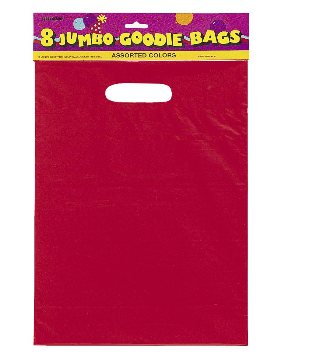 62024 Unique Party Paquete de 30 bolsas de regalo de celof/án Color rosa oscuro 8