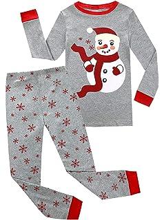 03a4b70fa9 Boys Christmas Pajamas Kids 100% Cotton Pjs Set Toddler Santa Claus  Sleepwear