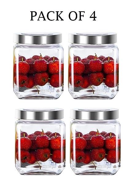 Buy Mapple Creation Cube Glass Jar For Kitchen Storage