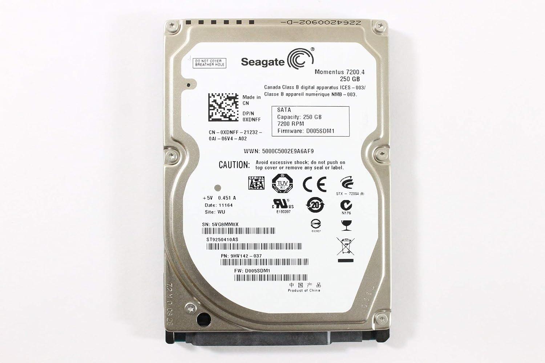 """Dell XDNFF ST9250410AS 2.5"""" SATA 250GB 7200 3.0 Gb/s Seagate Laptop Hard Drive Latitude E6410 (Certified Refurbished)"""