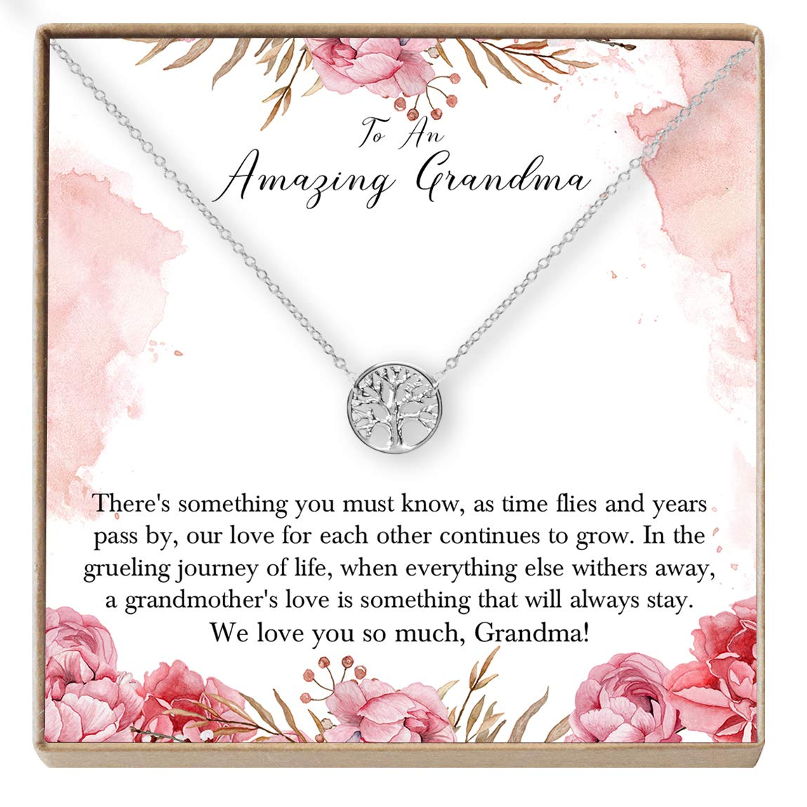 Only The Best Moms are Upgraded to Grandma New Grandma to Be Dear Ava Grandma Necklace: Grandma Gift Gift for Grandma Tree