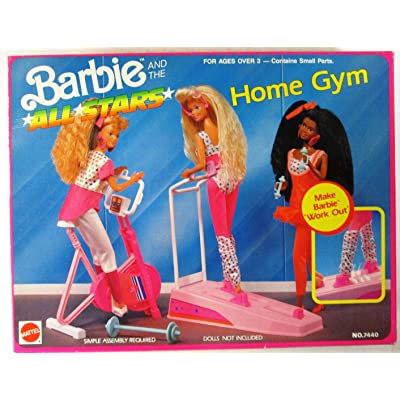 Barbie and the All Stars HOME GYM Playset w Ski Track, CYCLE & MORE! (1990 Arco Toys, Mattel): Toys & Games