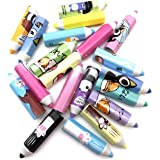 Pack of 20 pcs Assorted Patterns Plastic Pencil Cap Pencil Shield Pencil Extender Holder Pencil Point Protector Cover