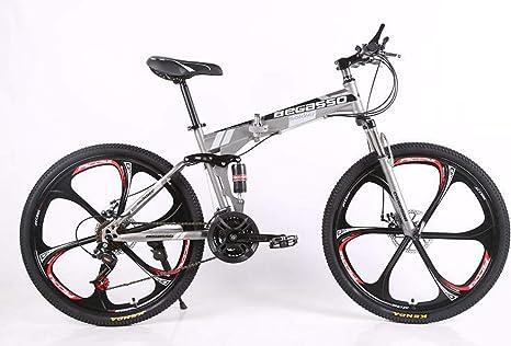 MLL Bicicleta Plegable, Doble Disco de Freno, Velocidad de Frenos ...