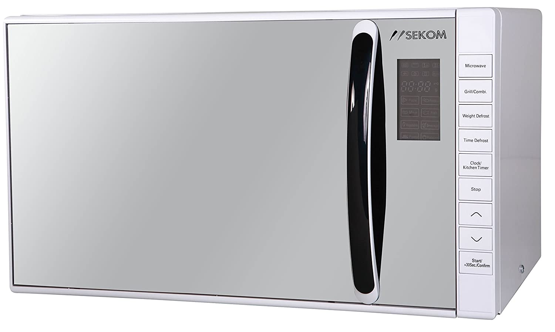 Sekom SM823EKW Encimera 23L 800W Espejo, Color blanco - Microondas ...