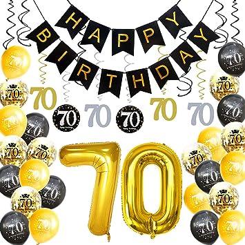 Amazon HankRobot 70th Birthday Decorations Party Supplies