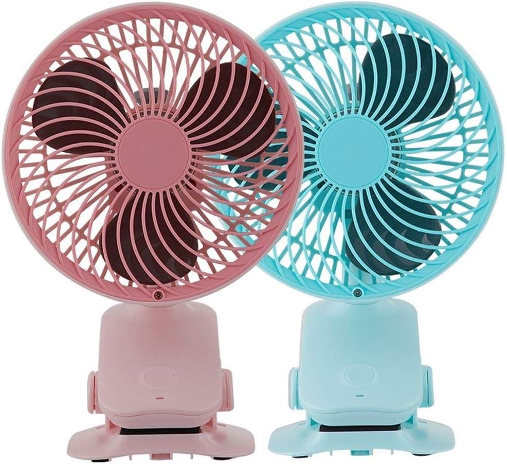 USB Fans Shaking Head Table Fan 25 Hours Working Silent Baby Stroller Clip Fan USB Charging Powerful Wind Fan for Home Color : Blue Office Outdoor Travel