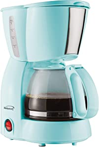 Brentwood TS-213BL 4 Cup Coffee Maker, Blue