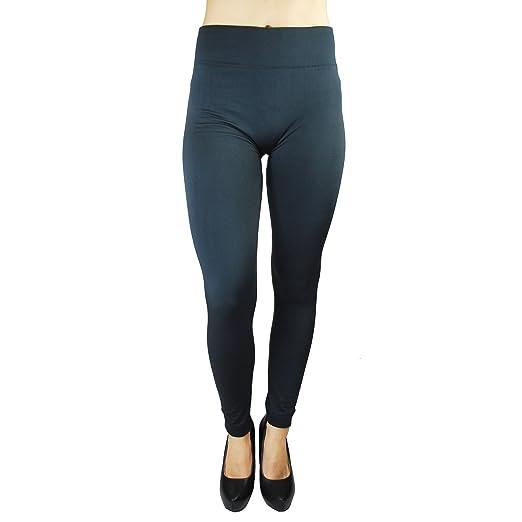 049ffab33c8 NSD Seamless Large Ladies Fleece Lined Leggings -Women s Plus Size-  Charcoal Grey