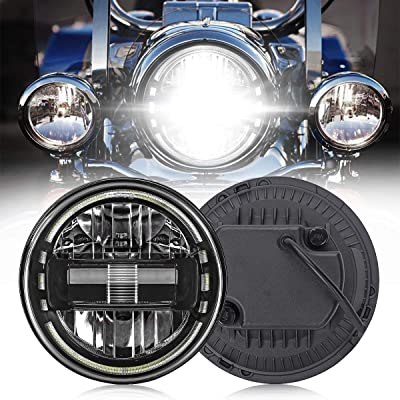 7 Inch LED Headlight High/Low Beam DRL Motorcycle Headlamp for Harley Glide Series, Softail Series, Sport Glide, Ultra Limited, Street Glide Special, Road Glide Special, DOT Approval, Black, 1PCS: Automotive
