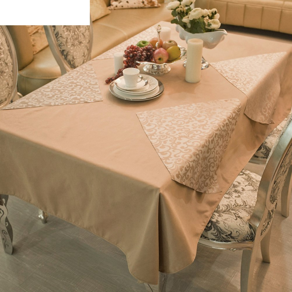 DE Runde tischdecke für Hotels,Cloth-Style europäischen esstisch Square tischtuch-B Durchmesser340cm(134inch) A 120180cm