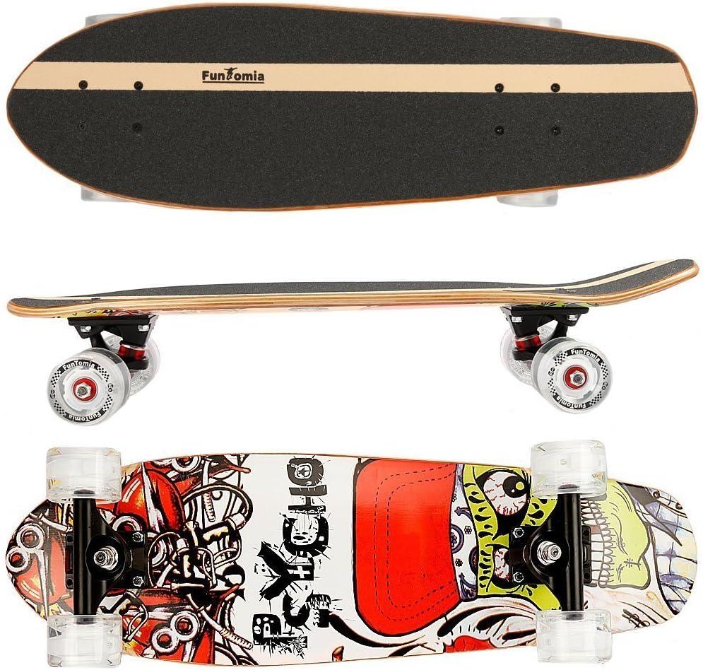 FunTomia Cruiser Midi-Board/Skateboard 65cm 7-lagigem kanadischem Ahornholz kaufen