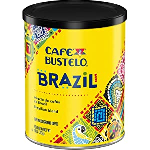 Cafe Bustelo Brazil Dark Roast Ground Coffee, 10 Oz