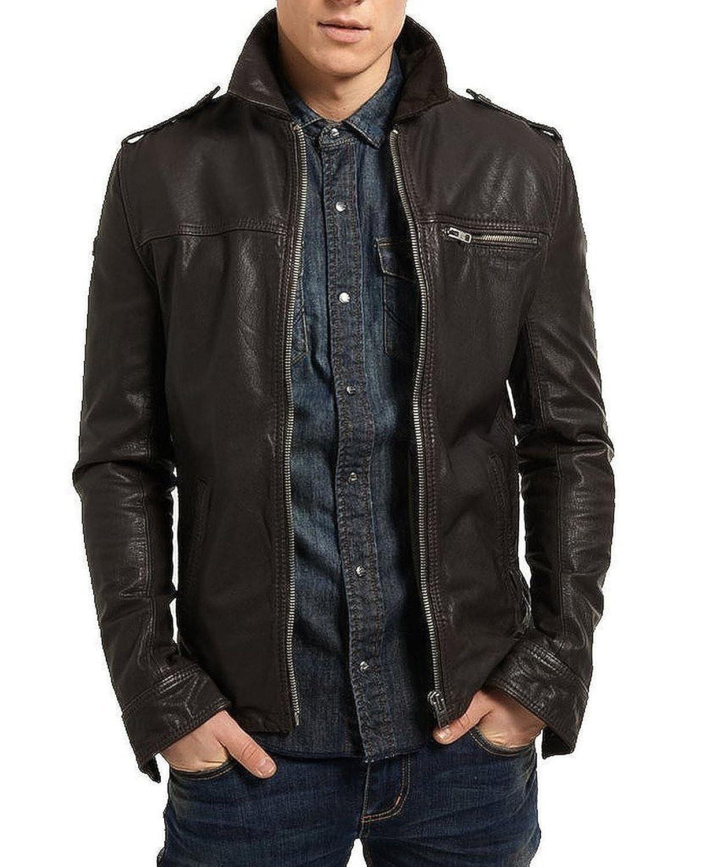 Laverapelle Men's Lamb skin Real Leather Jacket Black - 1510003