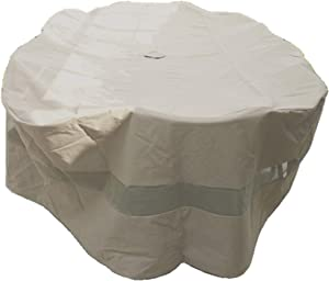 Premium Tight Weave Oval Patio Set Covers 120