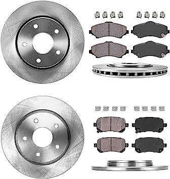 Rotors w//Metallic Pad OE Brakes 2008-2016 Fit Dodge Grand Caravan Front