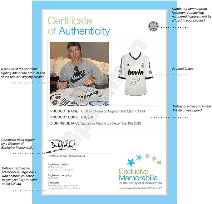 Cristiano Ronaldo y Zinedine Zidane Firmado camiseta de fútbol de ...