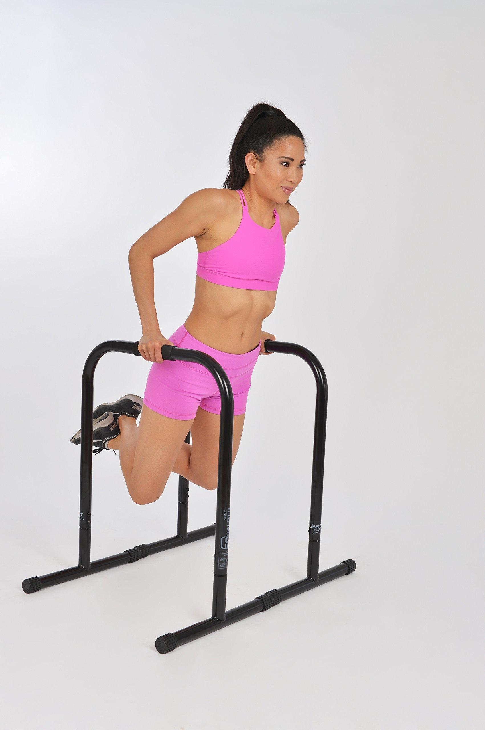 Lebert Fitness Equalizer Bars Total Body Strengthener, XL, Black by Lebert (Image #2)