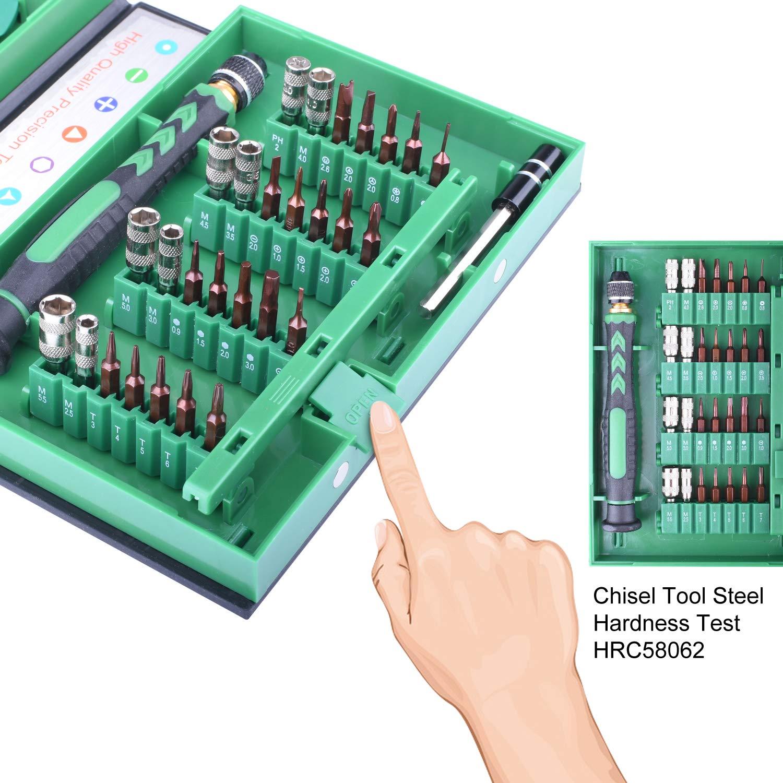 PC et autres appareils /électroniques LP3100 tablettes Longruner Kit de tournevis de pr/écision magn/étique S2 Kit doutils de r/éparation pour iPad ordinateurs portables iPhone