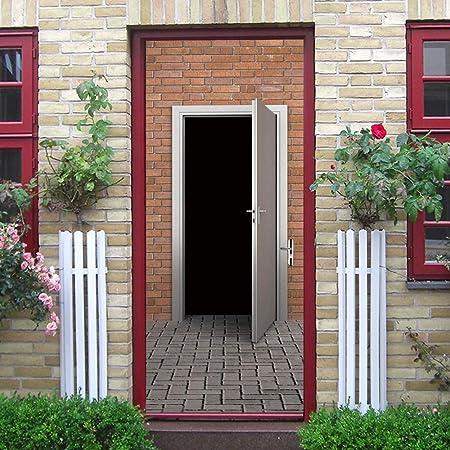 XUYATO pegatinas de puertas Pegatinas de puerta de madera de pared ...