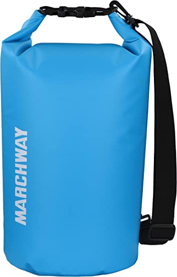 MARCHWAY Floating Waterproof Dry Bag 5L/10L/20L/30L/40L, Roll Top Sack Keeps Gear Dry for Kayaking, Rafting, Boating, Swimming, Camping, Hiking, Beach, Fishing best boating accessories