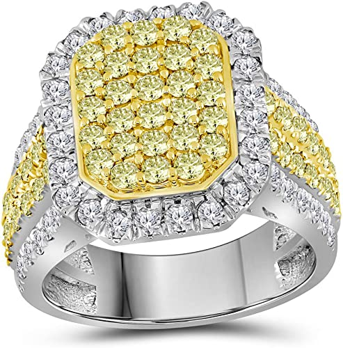 1.25 Ct Round Yellow Canary 14K White Gold Solitaire Engagement Wedding Ring