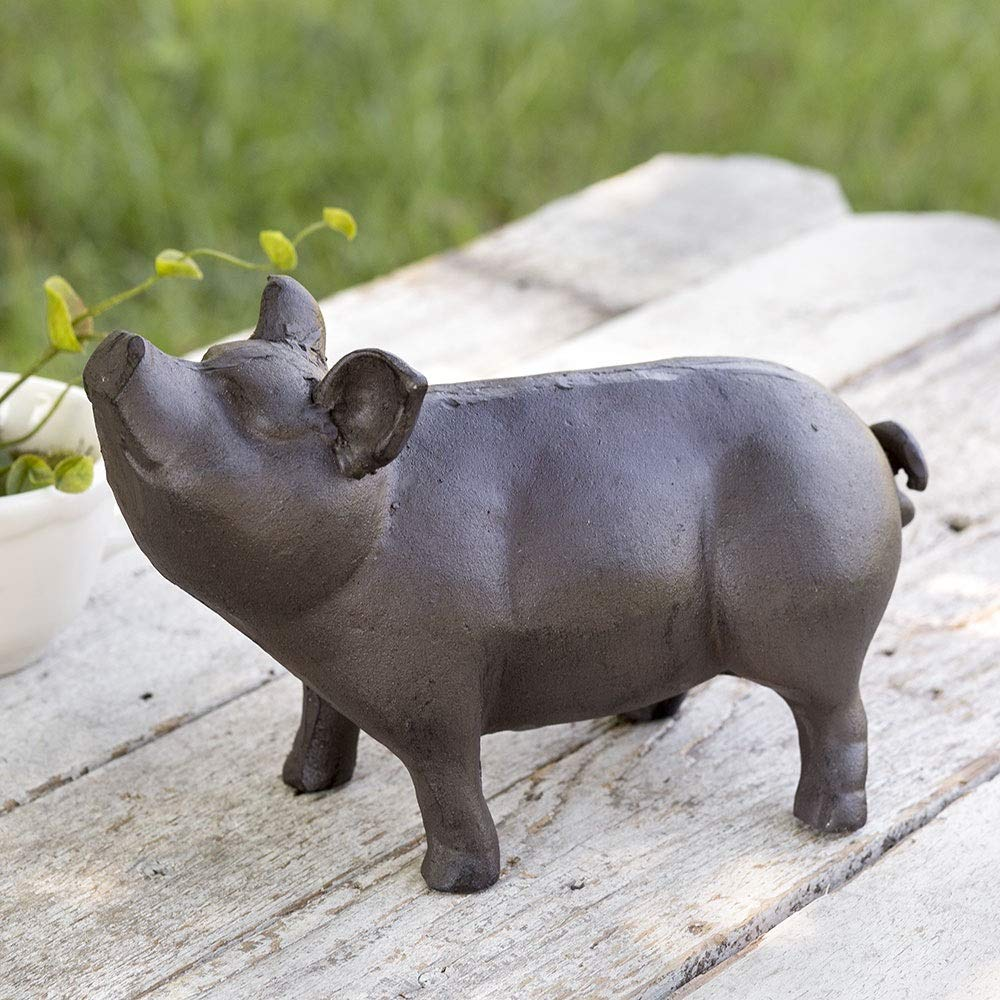 CTW Home Collection Pig Garden Statue