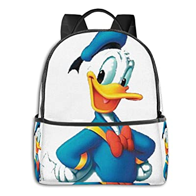 Cool Donald Duck Black Backpack Zipper School Bag Travel Daypack Unisex Adult Teens Gift: Computers & Accessories