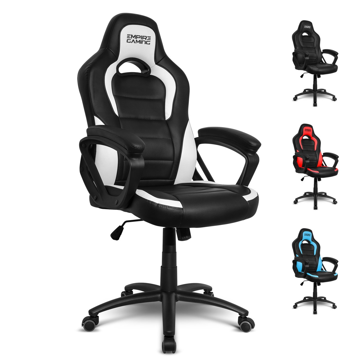 Empire Gaming - Sillón Gamer Racing 500 serie Blanca - Reposabrazosultracómodos y mullidos: Amazon.es: Hogar