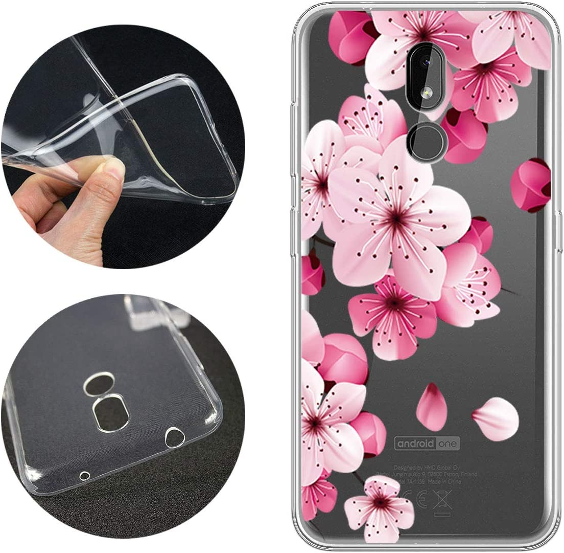 6.26 LJSM for Nokia 3.2 2019 Backcover Transparent Silicone Soft TPU Bumper Clear Cover Flexible Gel Shell Skin Protector Case for Nokia 3.2 2019 WM85