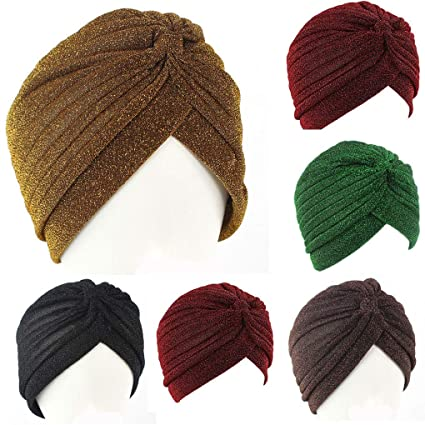 5c0f2f8b5fc Image Unavailable. Image not available for. Color  Aranher(TM) Men Women  Stretchable Soft Indian Style Turban Hat Head Wrap Band Caps