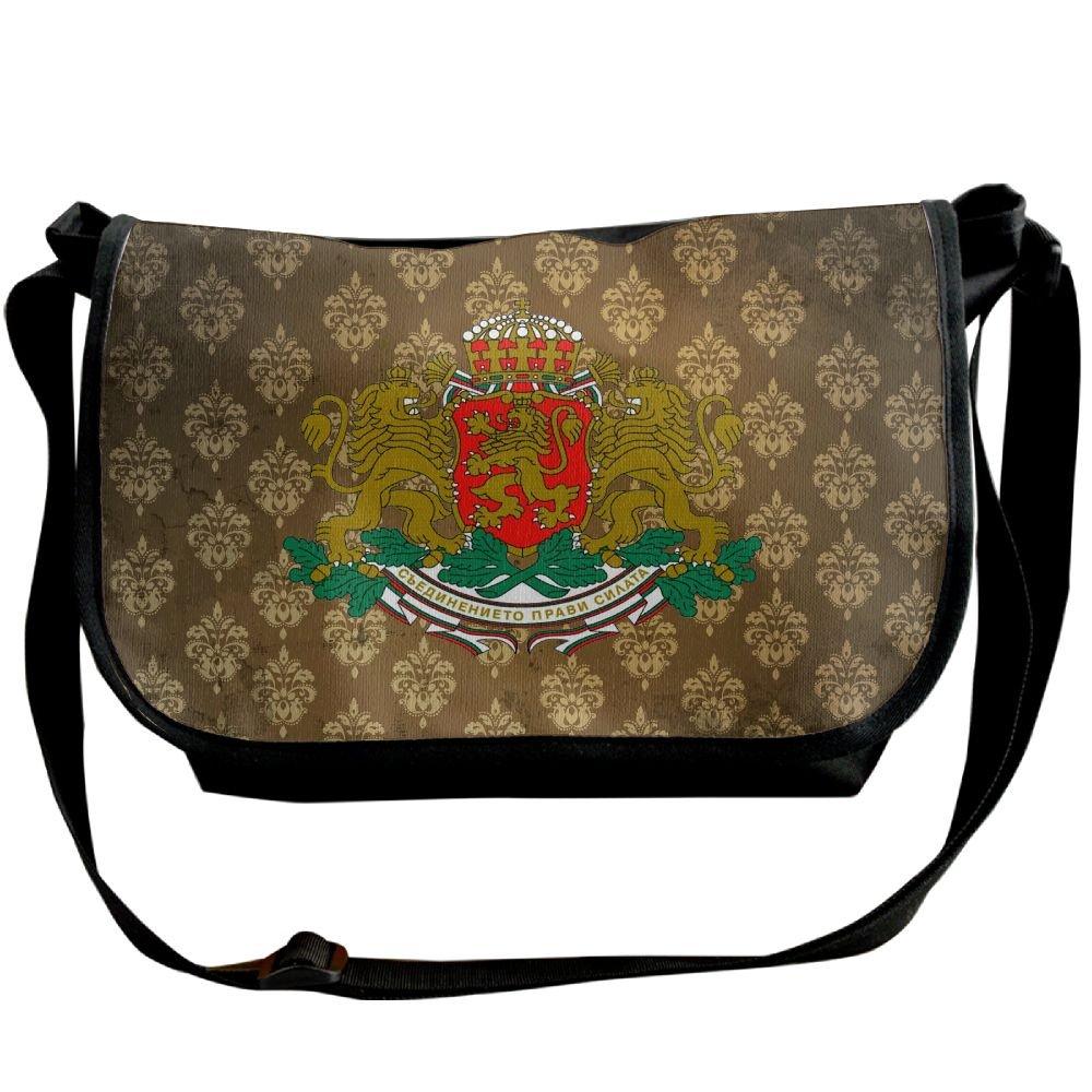 Lov6eoorheeb Unisex Coat Of Arms Of Bulgaria Wide Diagonal Shoulder Bag Adjustable Shoulder Tote Bag Single Shoulder Backpack For Work,School,Daily