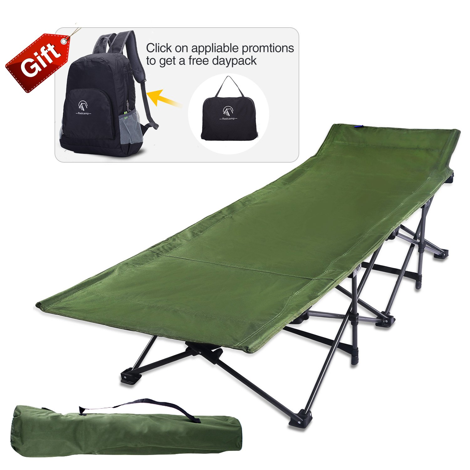 Amazon REDCAMP Camping Cots for Adults Easy and Portable