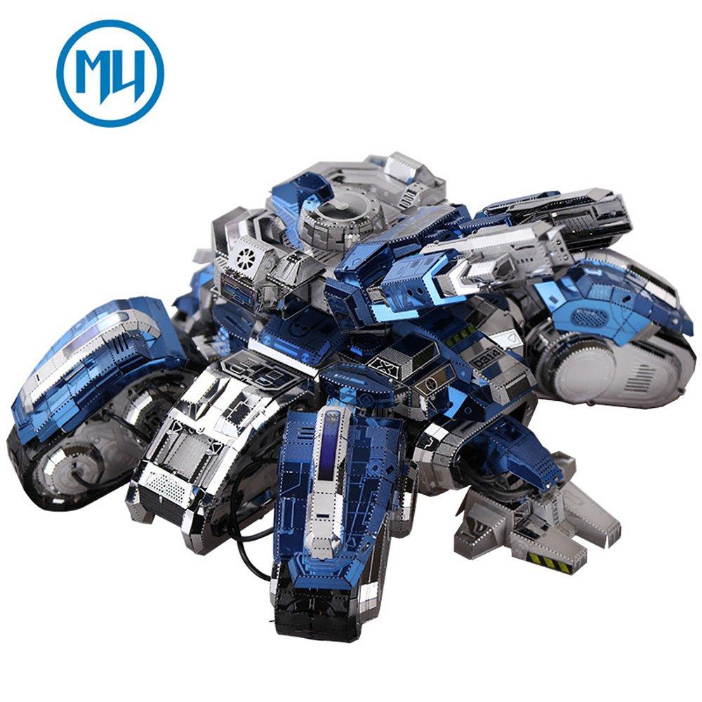 2017 MU 3D Metal Puzzle Siege Edition Tank Building Model Kit YM-N025 DIY 3D Laser Cut Assemble Jigsaw Toys For Audit