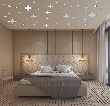 Mirror Wall Stickers   Mirror Stars Wall Decals   Stars For Ceiling   3D Mirror  Wall