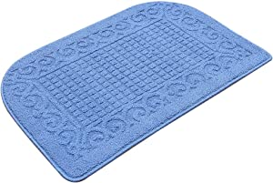 32X20 Inch Anti Fatigue Kitchen Rug Mats are Made of 100% Polypropylene Half Round Rug Cushion Specialized in Anti Slippery and Machine Washable (32x20in Blue 1pc)