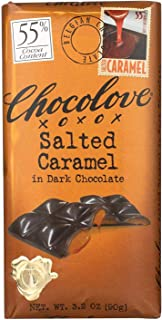 product image for Chocolove Xoxox, Bar Fld, Dark Chocolate, S.Crml 55%, Pack of 10, Size - 3.2 OZ, Quantity - 1 Case