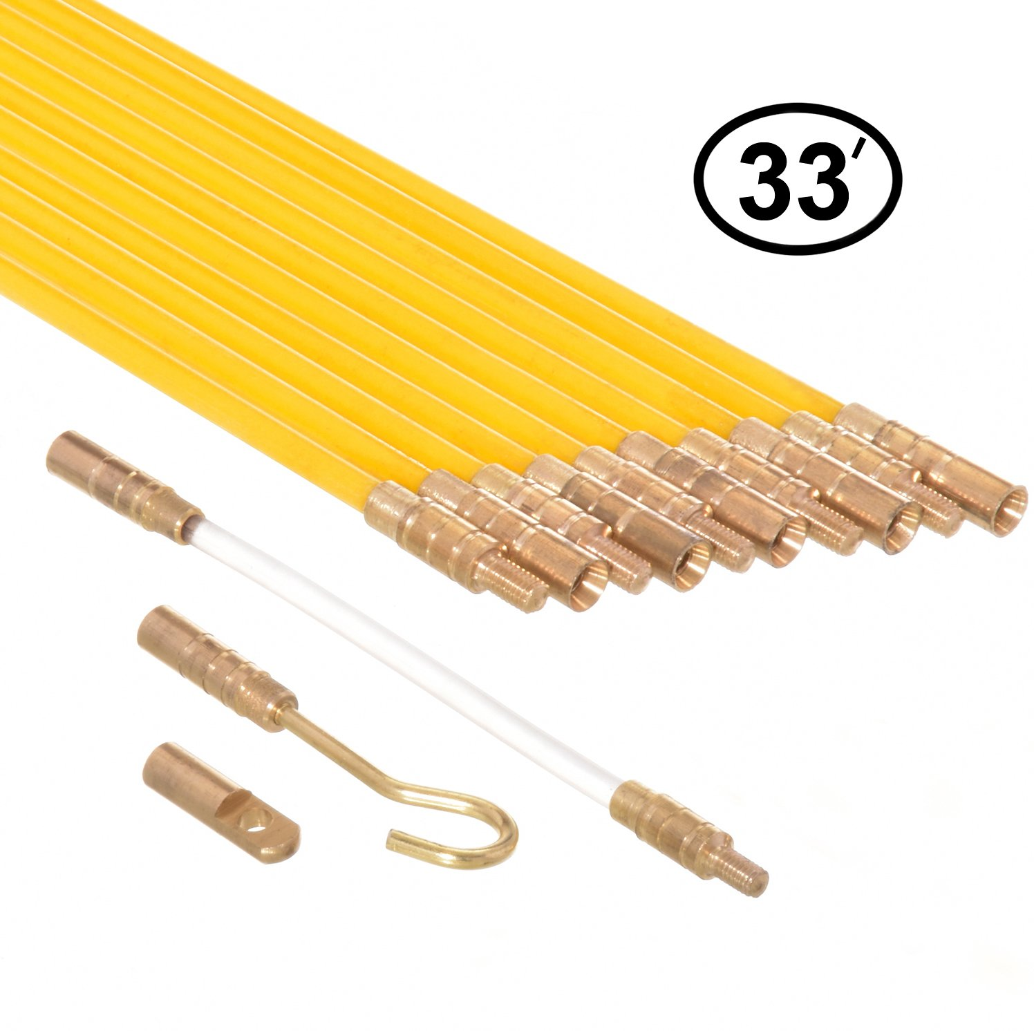 Remarkable Ram Pro 33 Feet Fiberglass Fish Tape Cable Rods Electrical Wire Wiring 101 Capemaxxcnl