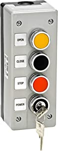 3BXLT Nema 4 Exterior Three Button With Lockout Surface Mount Control Station