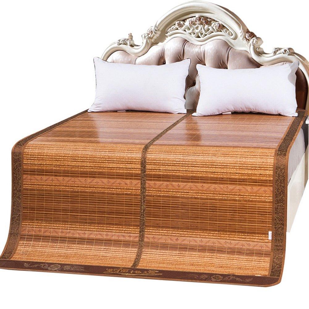 WENZHE Matratzen Sommerschlafmatte Matratze Sommer Bambus Schlafmatten Rattangras Beidseitig Kühlung Mittlere Naht Zusammenklappbar, 3 Größen