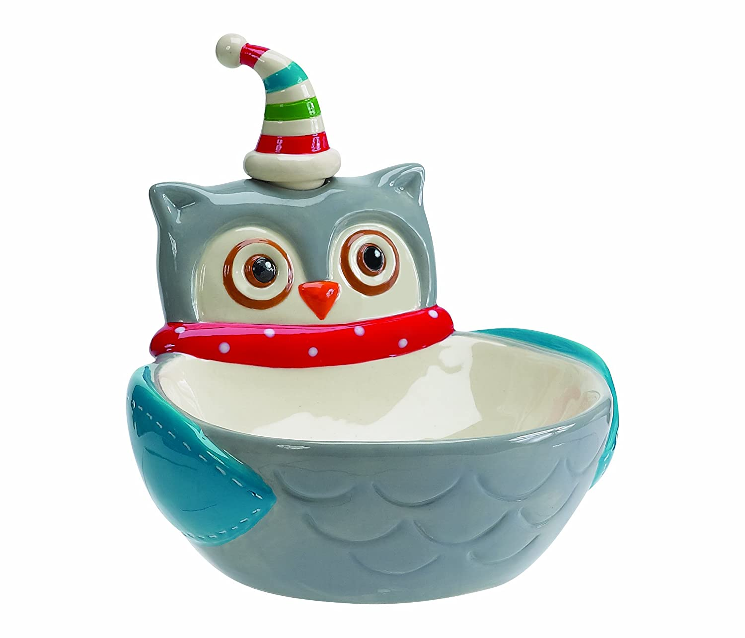 Boston Warehouse Snowy Owls Dip Bowl and Spreader Set 21167