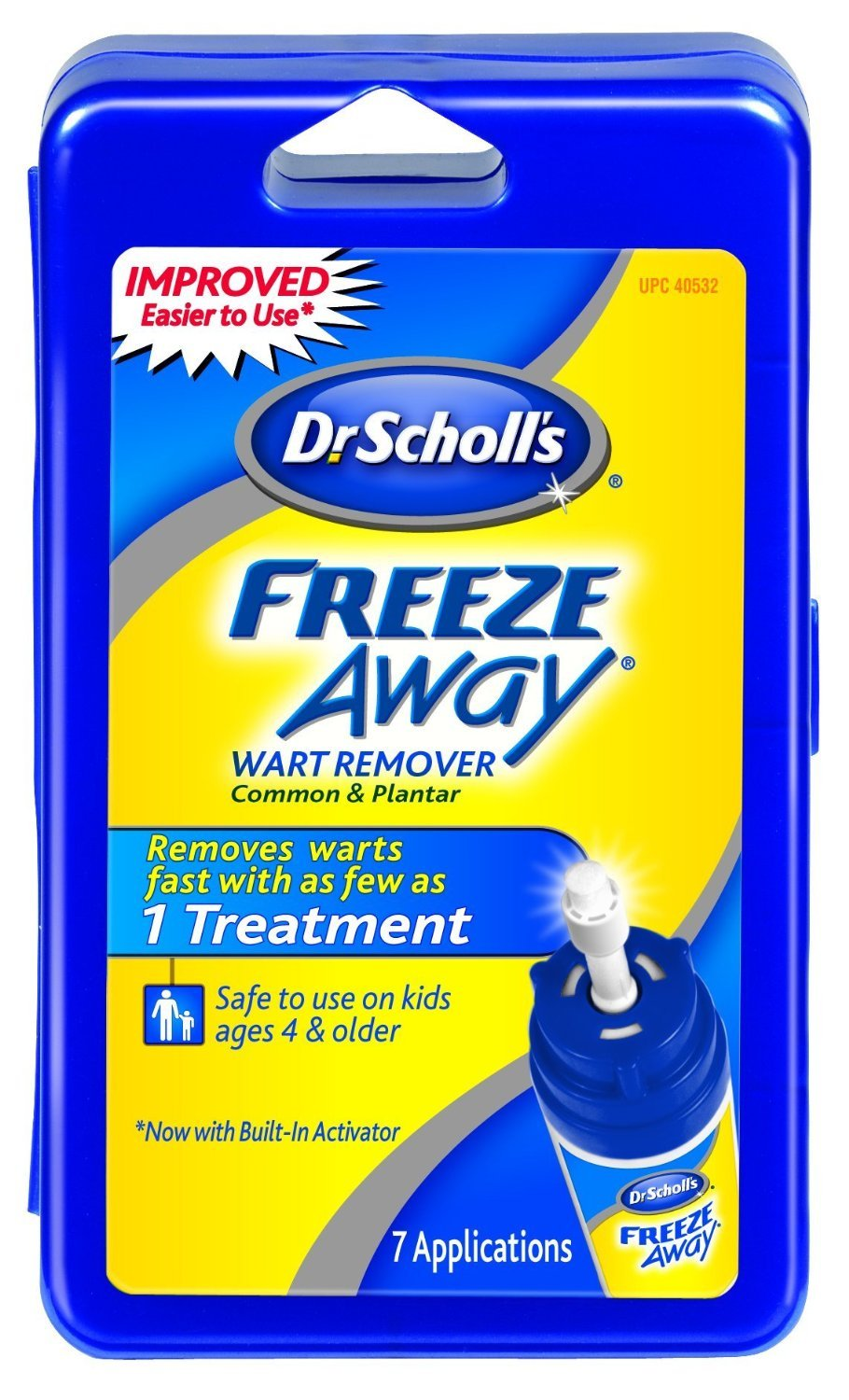Dr. Scholl's Freeze Away Wart Remover, 7 Treatments, Box , Pack of 4 by Dr. Scholl's