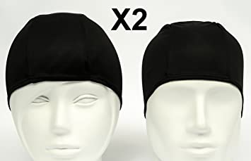2x Fabric Swim Caps For Adult adb7609b29b9