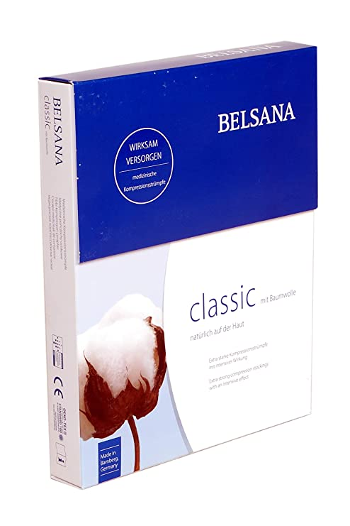 4f72a11e7 Buy BELSANA Cotton Medical Compression Stockings Thigh Length for Varicose  Veins CCL2 - S Online at Low Prices in India - Amazon.in