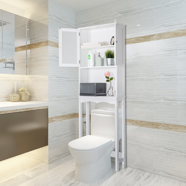 Amazon Com Kinbor Over The Toilet Bathroom Spacesaver Wooden